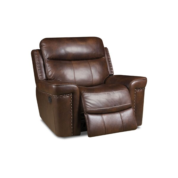 Derrek Reclining 3 Piece Leather Living Room Set by Red Barrel Studio
