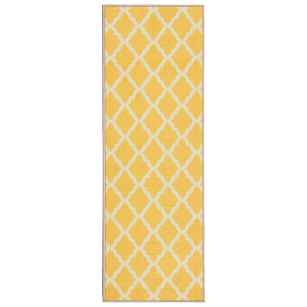 Staunton Yellow Area Rug by Charlton Home