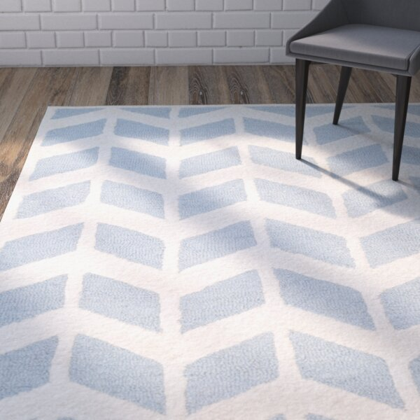 Martins Blue/Ivory Area Rug by Wrought Studio