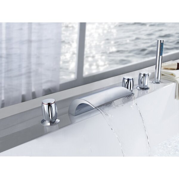 Triple Handle Deck Mount Bath Tub Faucet by Sumerain International Group