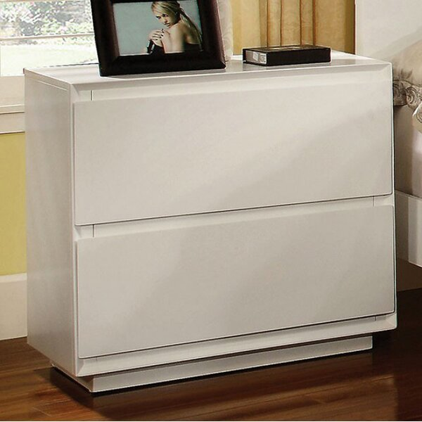 Dali 2 Drawer Nightstand by Longshore Tides