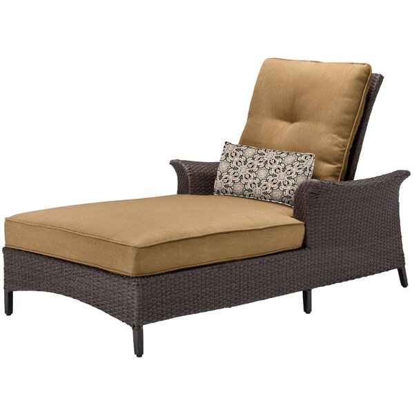 Daigle Reclining Chaise Lounge Chair With Cushion By Darby Home Co