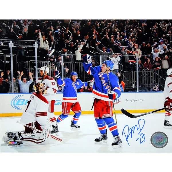 Ryan McDonagh Signed Celebrating Game Winning Goal Photographic Print by Steiner Sports