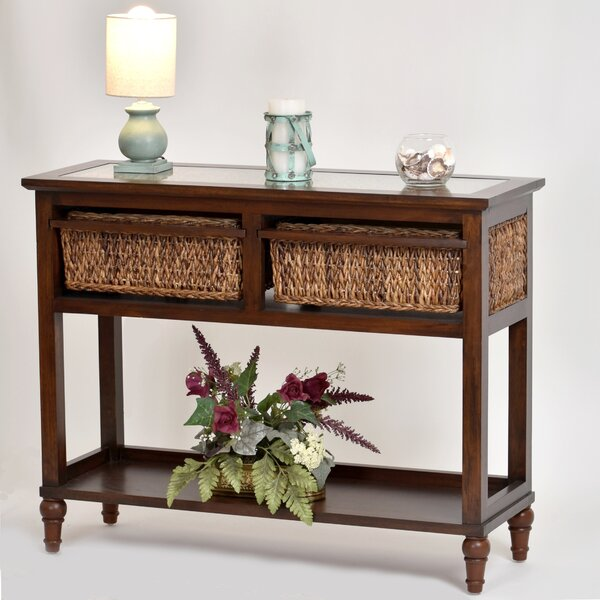 Outdoor Furniture Eversole Island 42 Solid Wood Console Table