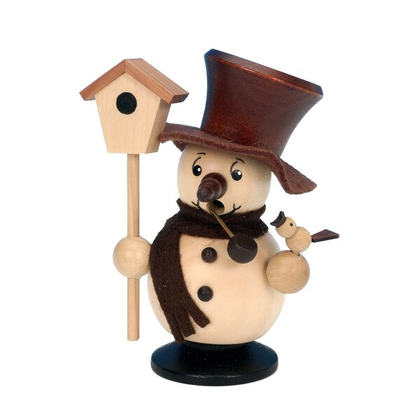 Snowman with Birdhouse Incense Burner by Christian Ulbricht