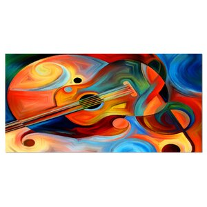 Music and Rhythm Abstract Graphic Art on Wrapped Canvas by Design Art