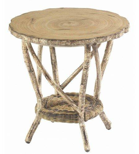 River Run Wicker Side Table by Woodard