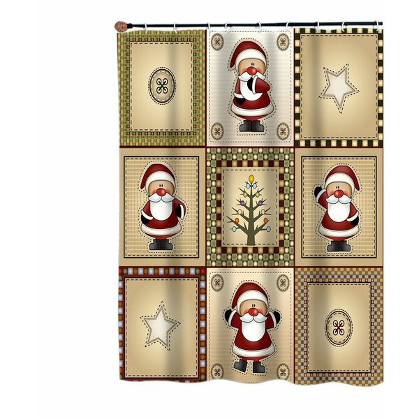 Chayer Americana Country Christmas Santa Shower Curtain by August Grove