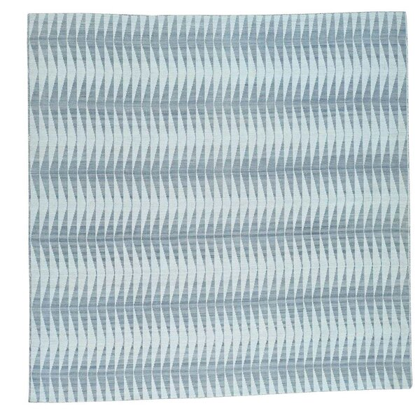 Reversible Flat Weave Durie Kilim Hand-Knotted Gray/Teal Area Rug by Ivy Bronx