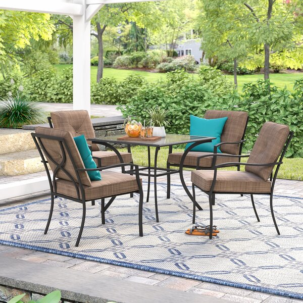 Keensburg 5 Piece Dining Set with Cushions by Andover Mills
