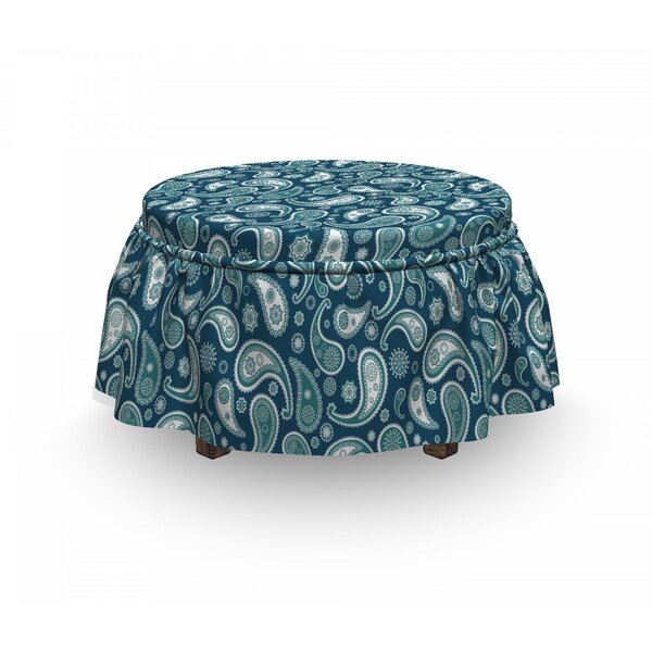 Eastern Paisley Ottoman Slipcover (Set Of 2) By East Urban Home