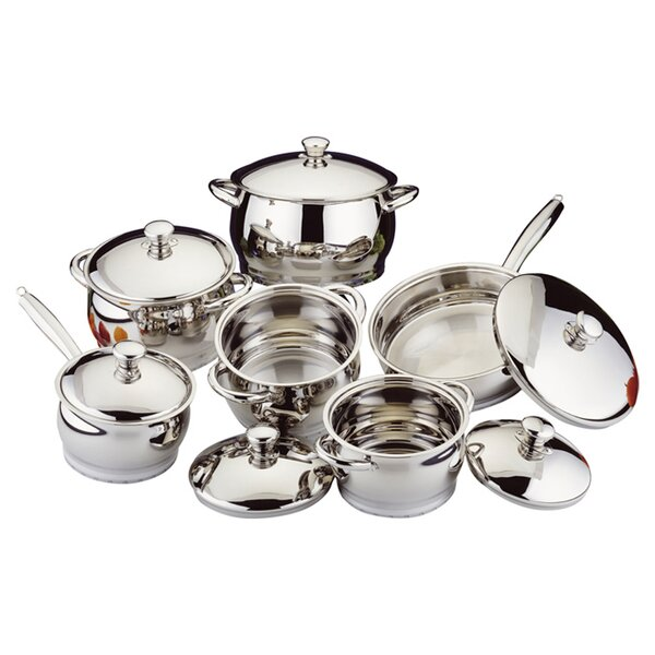 Stainless Steel 12-Piece Cookware Set by BergHOFF International