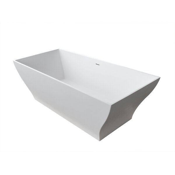 Gala 74.37 x 31.5 Artificial Stone Freestanding Bathtub by Spa Escapes