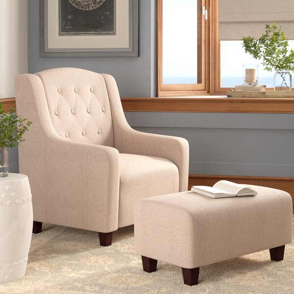 Ariadne Armchair and Ottoman by Darby Home Co Darby Home Co