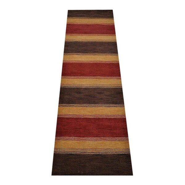 Ry Hand-Tufted Wool Brown/Yellow Area Rug by Latitude Run