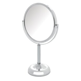 Magnified Tabletop Swivel Vanity Mirror