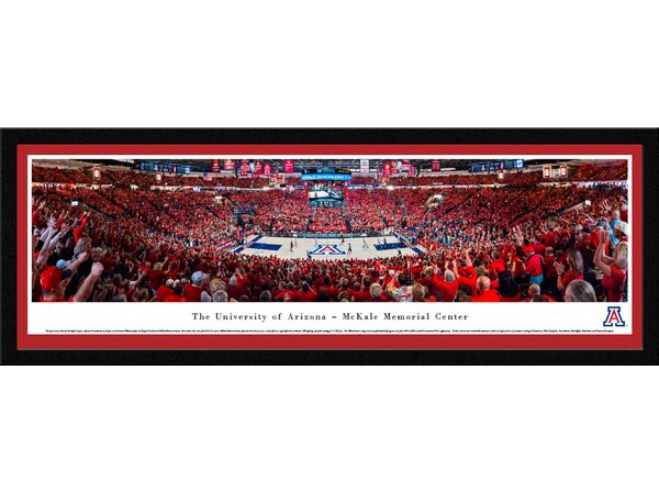 NCAA Arizona, University of - Basketball by Christopher Gjevre Framed Photographic Print by Blakeway Worldwide Panoramas, Inc