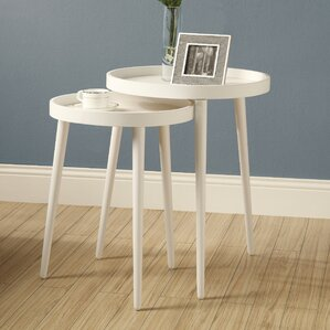 Roberta 2 Piece Nesting Table Set by Langley..