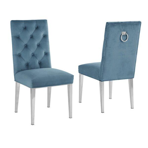 Carnahan Tufted Velvet Upholstered Side Chair (Set of 2) by Everly Quinn Everly Quinn