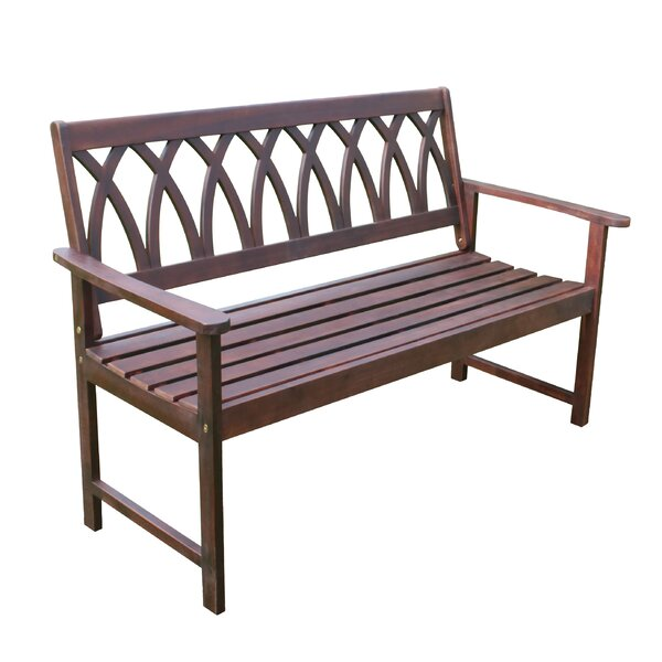 Creekmore Criss Cross Wood Garden Bench by Charlton Home