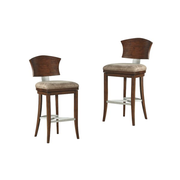 Villa 30 Swivel Bar Stool (Set of 2) by World Menagerie