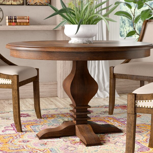 Tate Solid Wood Dining Table by World Menagerie