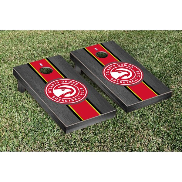 NBA Stained Stripe Version Cornhole Game Set by Vi