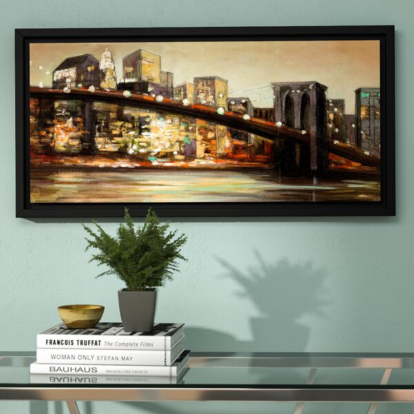 NYC after Hours Framed Painting Print by Zipcode Design