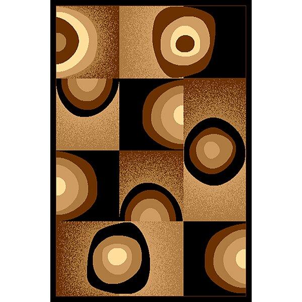 Costillo Chocolate/Black Area Rug by Ebern Designs