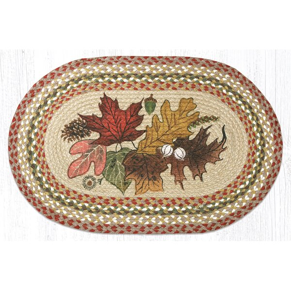 Autumn Leaves Printed Area Rug by Earth Rugs