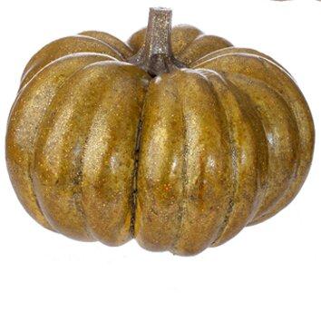 Autumn Harvest Glitter Pumpkin Thanksgiving Sculpture by Northlight Seasonal