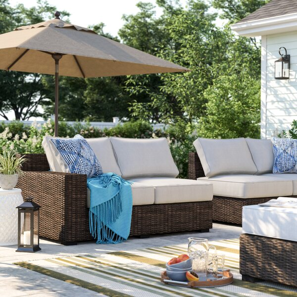 Oreland Loveseat with Cushions by Sol 72 Outdoor
