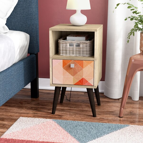 Althea End Table With Storage By Ebern Designs
