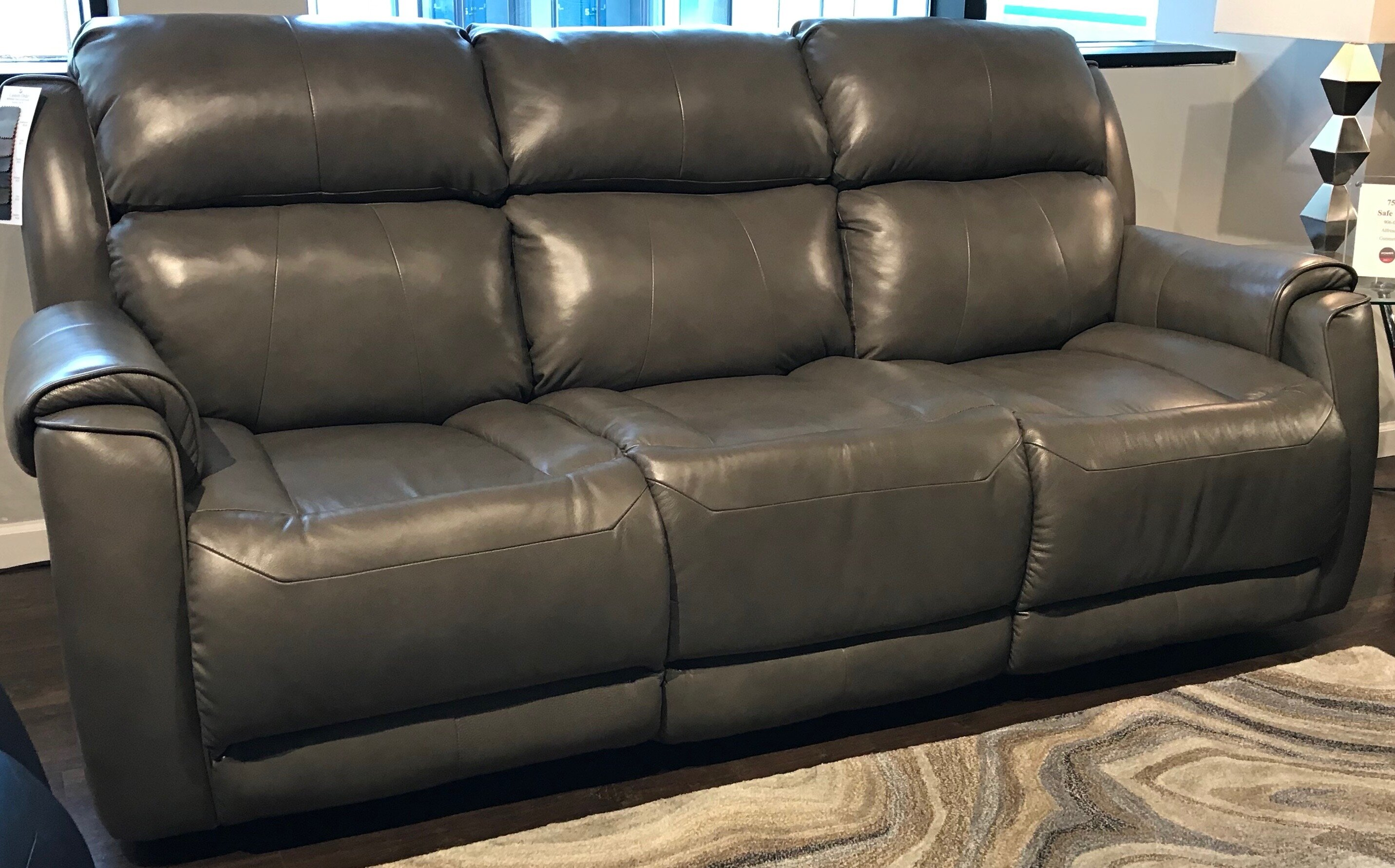 Safe Bet Leather Reclining Sofa
