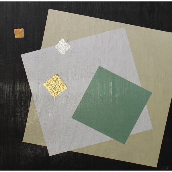 Abstract Squares Graphic Art on Wood by Brayden Studio