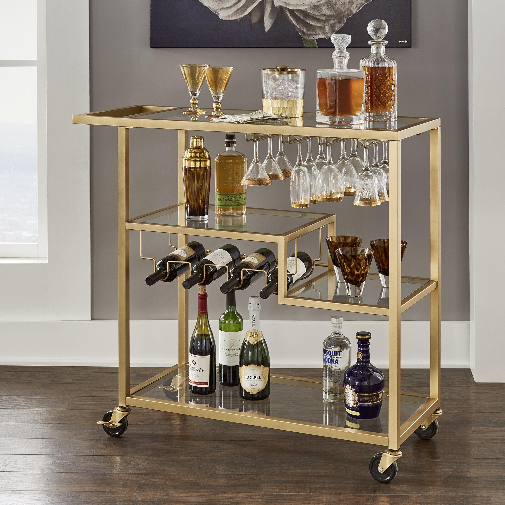 Tibo Glass tibo bar cart & reviews   birch lane