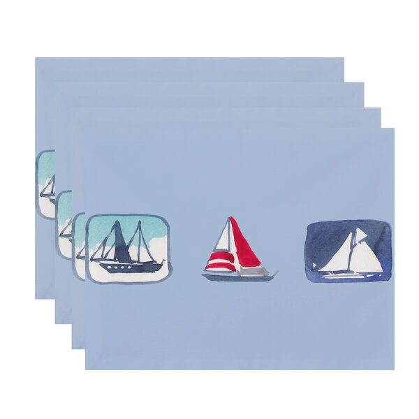 Harriet Boat Trio Placemat (Set of 4) by Breakwater Bay