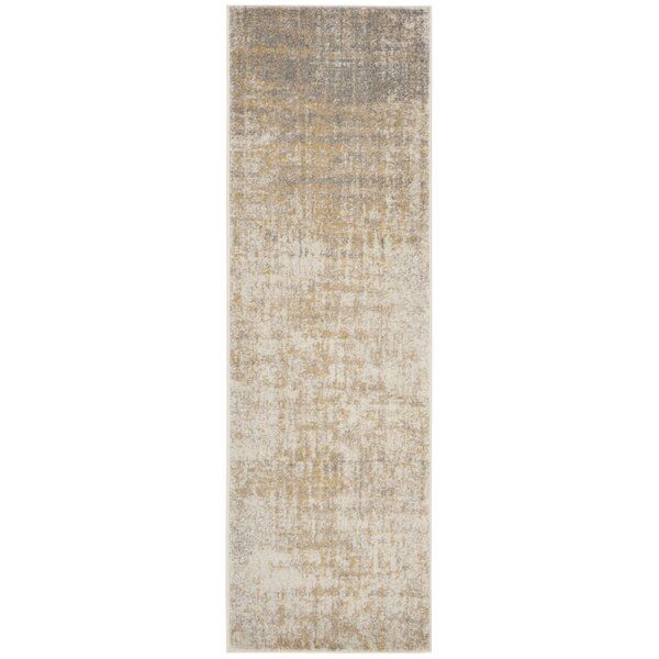 Connie Creme/Gold Area Rug by Greyleigh