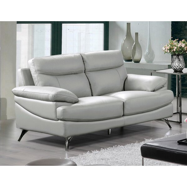 Leather Loveseat by Best Quality Furniture