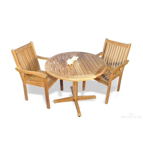 Rossford 3 Piece Teak Bistro Set by Red Barrel Studio