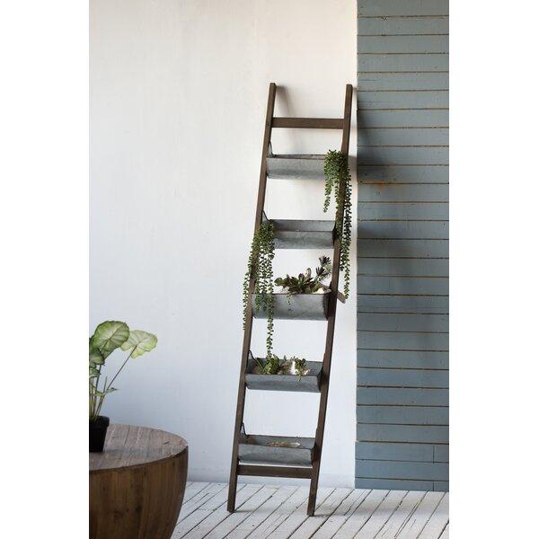 5 Level Ladder Zinc Vertical Garden by A&B Home