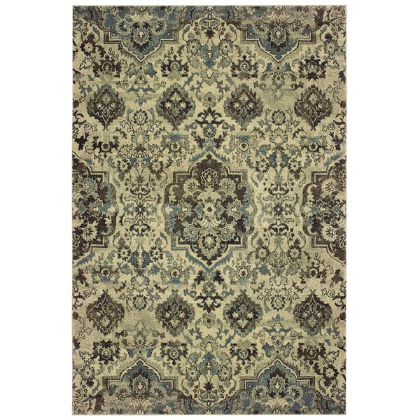 Salgado Vintage Medallion Ivory Area Rug by Charlton Home
