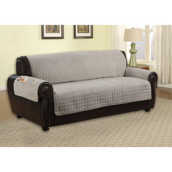 Reversible Microfiber T-Cushion Sofa Slipcover By Winston Porter