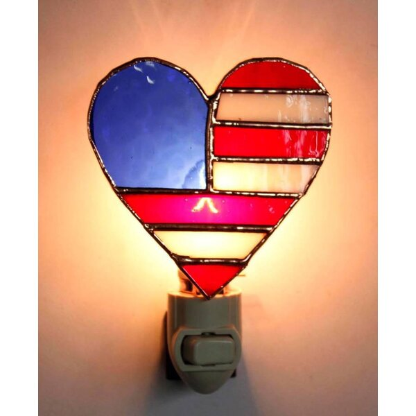 Patriotic Heart Night Light by Gift Essentials