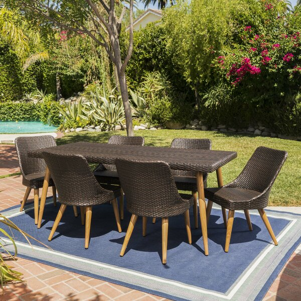 Portland Wicker 7 Piece Dining Set by George Oliver