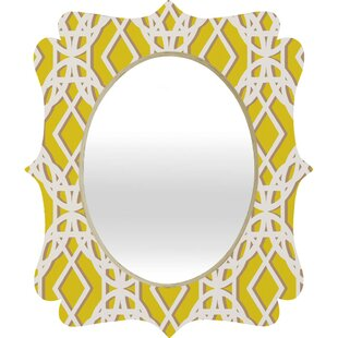 East Urban Home Diamonds Quatrefoil Mirror