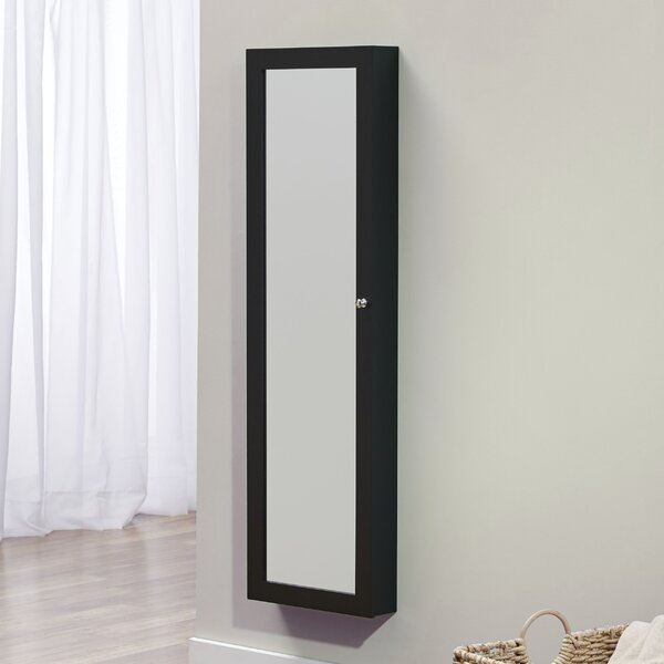 Bohdalice Over The Door Jewelry Armoire with Mirror by Latitude Run