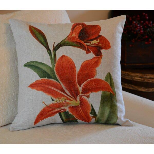 Amaryllis Throw Pillow by Golden Hill Studio