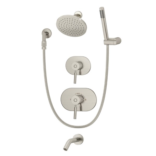 Sereno Pressure Balance Tub and Shower System with Lever Handle by Symmons
