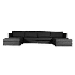 steffi ushape double chaise modular sectional